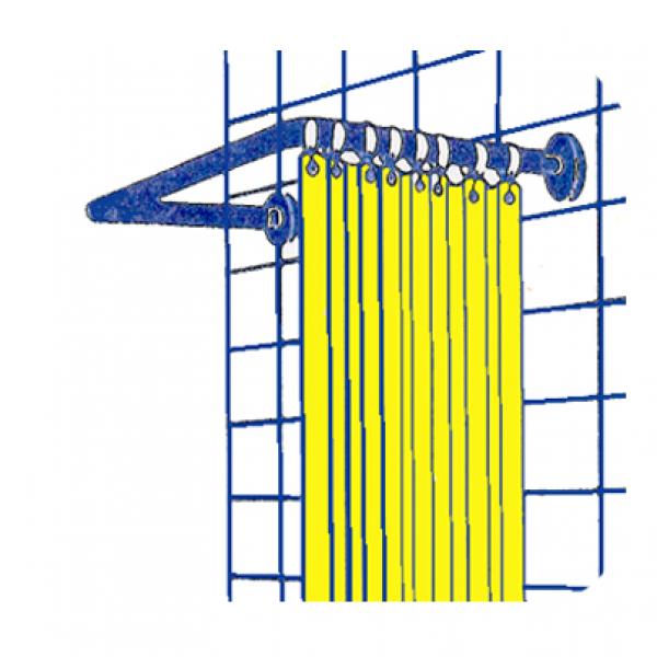 Supporto tenda doccia 80x80x80 valsania tende doccia for Bastone reggitenda per doccia