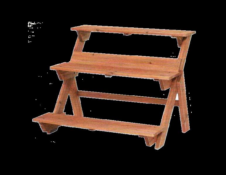 Portavaso legno a scala 75x62x60 valsania varie for Portavasi in legno